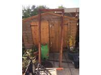 Back gate / shed door with frame