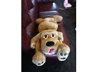 Lazy Loveable Warm and Cuddly Large Toy Dog As Brand New