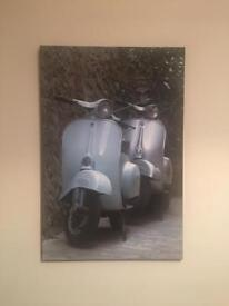 Large Vespa Canvas Art Print