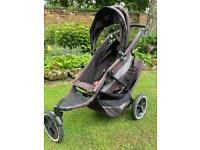 Phil and teds double pushchair, with accessories