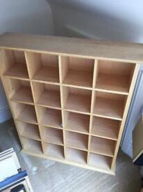 Sturdy quality John Lewis pine display cabinet shelving £30
