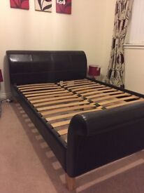 John Lewis Leather Double Bed