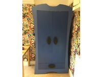 Sturdy Ikea Mammut wardrobe (blue)-can be dismantled for collection.