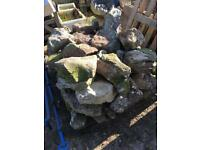 Pond and garden landscaping materials
