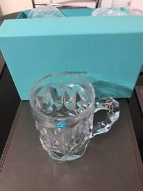 Tiffany & Co Crystal Beer Mug Paperweight