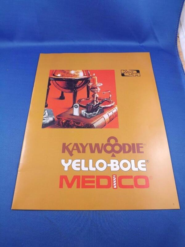 KAYWOODIE YELLOW-BOLE MEDICO CATALOG BROCHURE PIPES STORE DISPLAYS ACCESSORIES