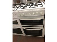 50CM WHITE CANNON GAS COOKER GRILL & OVEN