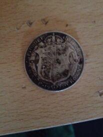 Georgivs V 1921 half crown sliver coin