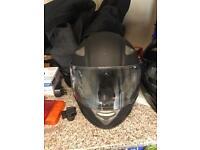 Matt black motorcycle helmet size xl