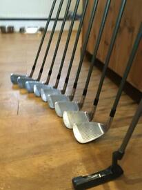 Ladies set of irons and bag