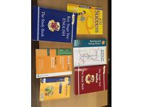 Key stage 2 books Maths and English + exam papers