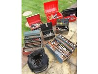 Job lot of hand tools and tool boxes