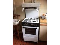 Valor freestanding gas cooker/oven high level grill