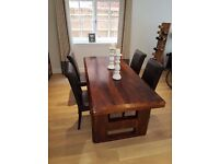 Wooden Dining Table - Solid Mango Wood, excellent condition