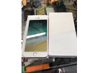 IPhone 6 Plus 128gb Unlocked white and silver with receipt