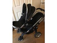 Icandy Peach Blossom Double Buggy in Black Magic