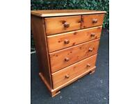 Large solid pine chest of drawers with possible delivery