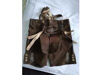 Genuine brown leather lederhosen