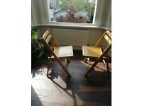 Two folding chairs good condition