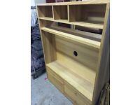 TV stand, large, solid for TV, DVD, satellite, soundbar, cabinet, display