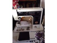 PFAFF Model 213 Sewing Machine with manual and case