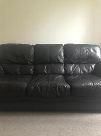 Brown leather sofa from DFS