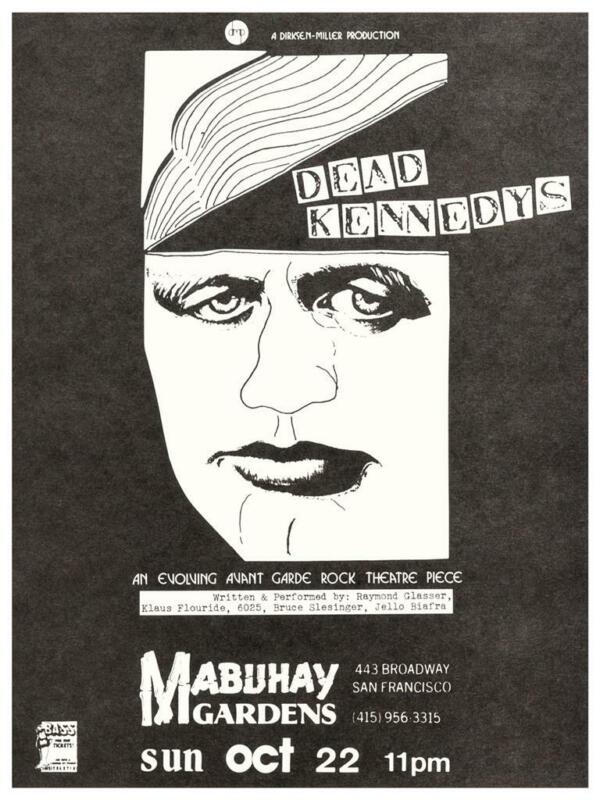 Dead Kennedys - LARGE POSTER - live @ Mabuhay Gardens 1977 San Fran Jello Biafra