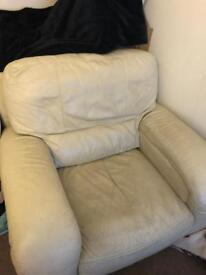 Single and 3 seat leather sofa's