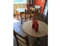 Coffee shop and restaurant table and chairs