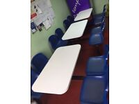 Canteen/Warehouse/Dining table and chairs