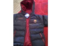 Brand new official Barcelona kids coat *REDUCED TO CLEAR*