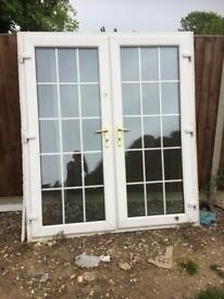 UPVC white double doors