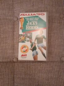 VHS Tape and Book - Jack Charlton.