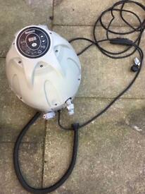 Hot tub pump heater