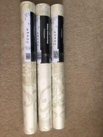 X3 brand new rolls of wallpaper