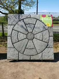 RECTORY CIRCLE PATIO PAVING FEATURE KIT COVERS 1.8M X 1.8M ONLY £134.99 EACH