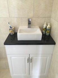 Florence white gloss Bathroom Vanity Unit.