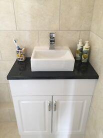 Florence white gloss Bathroom Vanity Unit.