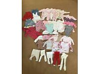 0-3 months baby girl clothes bundle. £15