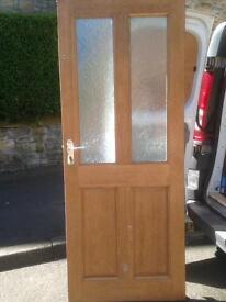 Hardwood exterior door