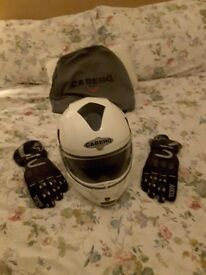 Motorcycle helmet and gloves for sale