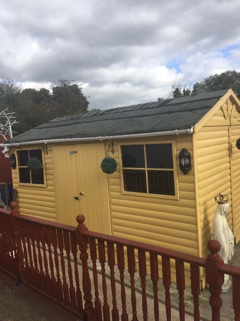 10x15 Room: 10x15 Summer House / Garden Shed Fully Electric
