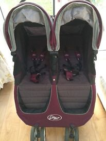 Baby Jogger City Mini Double Pushchair Excellent Condition
