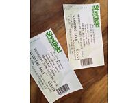 2 x Justin Bieber Sheffield tickets 26 Oct - guaranteed delivery