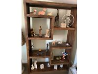 Dark Oak Cube Display Cabinet