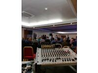 Pa system and engineer hire (Band, party, Dj)