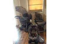 Travel system Primo viaggio by Mamas & Papas incl pram, pushchair car seat