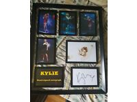 kylie minogue hand signed autograph display