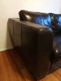 Two seater sofa - faux leather