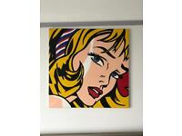 Large wall canvas copy of Roy Lichtenstein